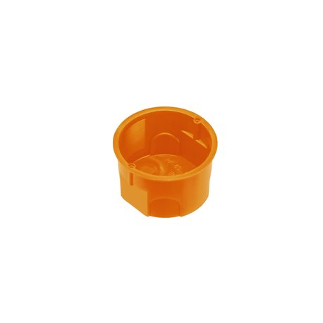 Puszka instalacyjna fi 60 płytka,bez wkrętów, pomarańczowa