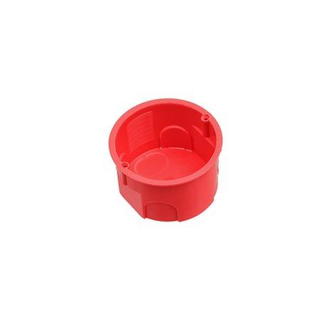 Puszka instalacyjna fi 60 płytka,bez wkrętów,samogasnąca,bezhalogenowa, czerwona