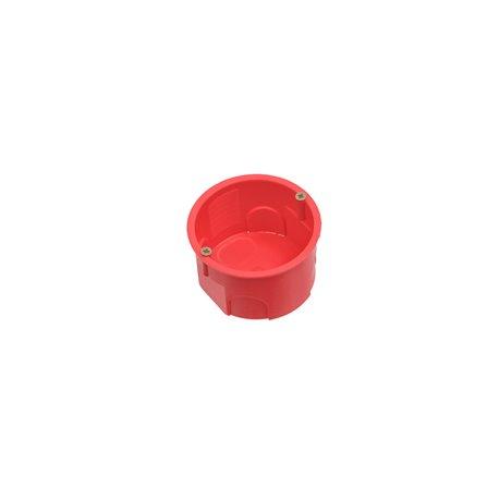 Puszka instalacyjna fi 60 płytka,z wkrętami,samogasnąca,bezhalogenowa, czerwona