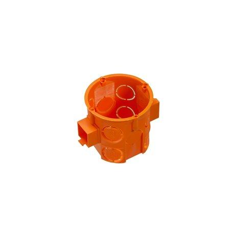 Puszka instalacyjna fi 60 łączeniowa, głęboka, bez wkrętów, pomarańczowa