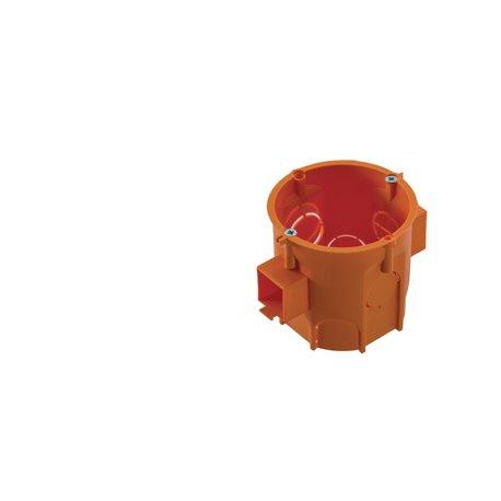 Puszka PK60 Lux głęboka łączeniowa z wkrętami pomarańczowa