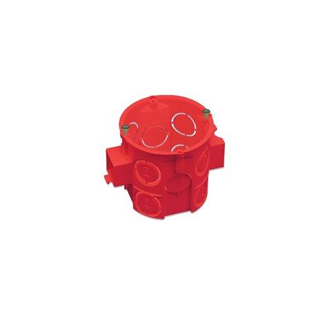 Puszka instalacyjna fi 60 łączeniowa, głęboka, z wkrętami, samogasnąca, bezhalogenowa, czerwona