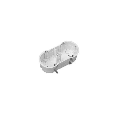 Puszka instalacyjna do płyt gipsowych podwójna 2x fi 60 płytka, z wkrętami, biała