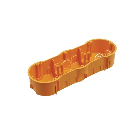 Puszka instalacyjna potrójna 3x fi 60 głęboka, pomarańczowa