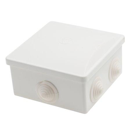 Puszka instalacyjna hermetyczna S-BOX 80x80x40 klik, 6x PG-13,5, IP44, biała