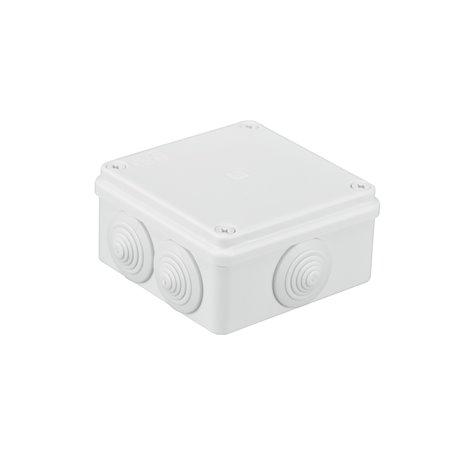 Puszka instalacyjna hermetyczna S-BOX 100x100x50, 6x PG-21, IP65, biała