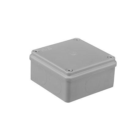 Puszka instalacyjna hermetyczna S-BOX 100x100x50, bez dławików, bezhalogenowa, IP65, szara