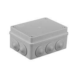 Puszka instalacyjna hermetyczna S-BOX 150x110x70, 10x PG-21, bezhalogenowa, IP65, szara