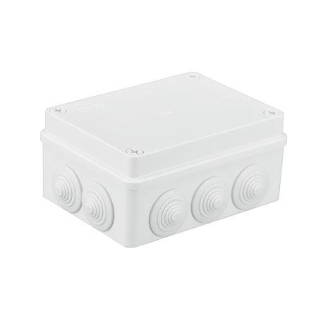 Puszka instalacyjna hermetyczna S-BOX 150x110x70, 10x PG-21, IP65, biała