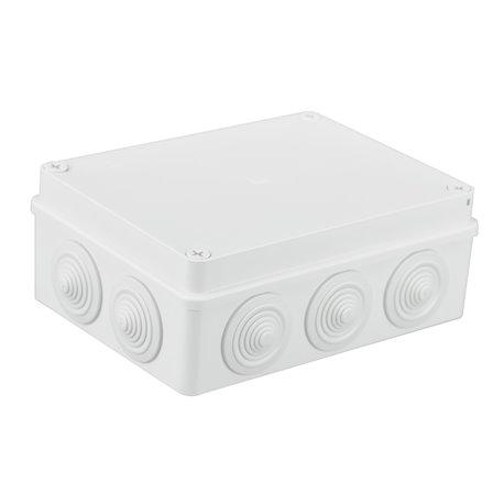 Puszka instalacyjna hermetyczna S-BOX 190x140x70, 10x PG-29, IP65, biała