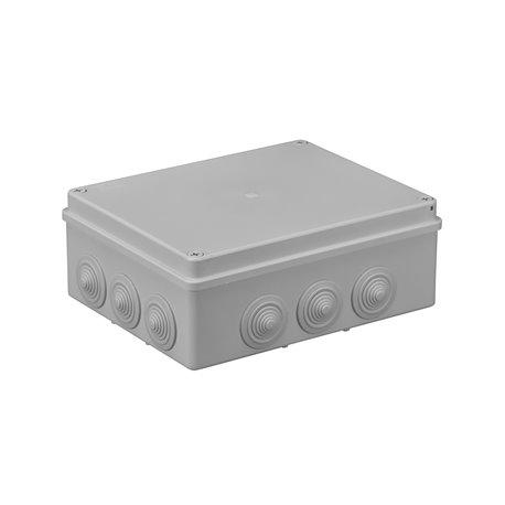 Puszka instalacyjna hermetyczna S-BOX 240x190x90, 12x PG-29, bezhalogenowa, IP65, szara