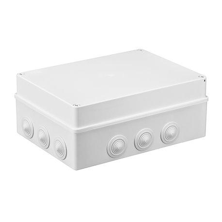 Puszka instalacyjna hermetyczna S-BOX 300x220x120, 12x PG-29, IP55, biała