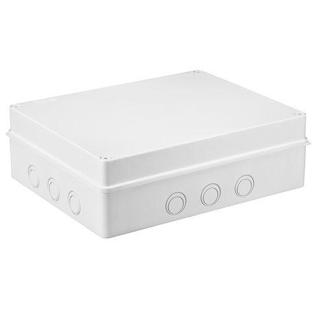 Puszka instalacyjna hermetyczna S-BOX 380x300x120, bez dławików, 12 osłabień, IP65, biała