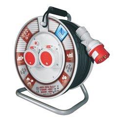 Przedłużacz na bębnie fi 340, siłowy, H05RR F5x2,5-30m, 2x16A 5p (400V), IP55, wyłącznik termiczny