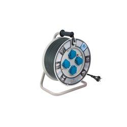 Przedłużacz na bębnie fi 340, H05RR F3x1,5-50m, 4xGZ16A, IP44, wyłącznik termiczny
