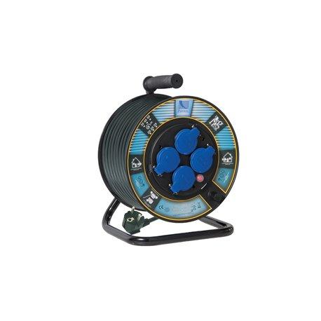 Przedł. na bębnie fi 250, H05RR F3x1,5-20m, 4xGZ16A (250V)schuko, wyłącznik termiczny schuko
