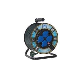 Przedłużacz na bębnie fi 250, H05VV F3x1,5-25m, 4xGZ16A (250V), wyłącznik termiczny