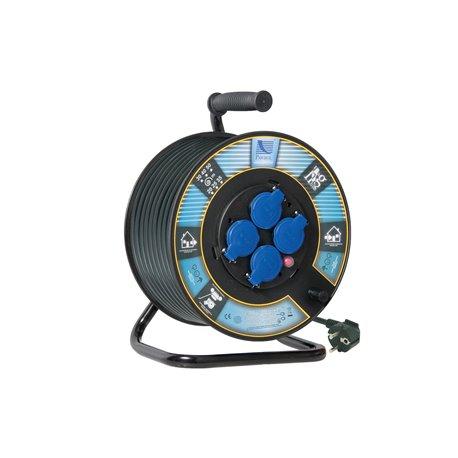 Przedłużacz na bębnie fi 300, H05RR F3x1,5-20m, 4xGZ16A (250V), IP44, wyłącznik termiczny