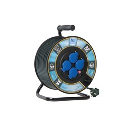 Przedłużacz na bębnie fi 300, H05RR F3x1,5-30m, 4xGZ16A (250V), IP44, wyłącznik termiczny