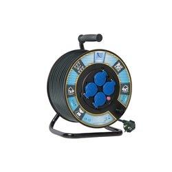Przedłużacz na bębnie fi 300, H05VV F3x1,5-40m, 4xGZ16A (250V), IP44, wyłącznik termiczny