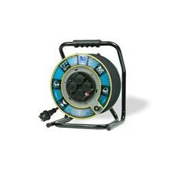 Przedłużacz na bębnie metalowym Home&Garden, H05RR F3x2,5-30m, 4xGZ16A (250V), IP44, wyłącznik termiczny