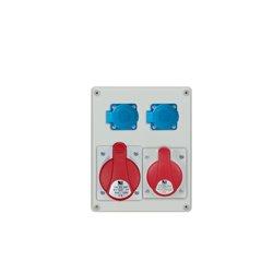 Rozdzielnica R-BOX 240 1x32A/5p, 1x16A/5p, 2x250V/16A