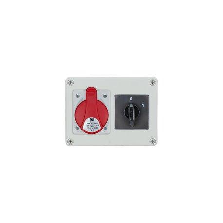 Rozdzielnica R-BOX 190, 1x16A/5p, wyłącznik 0/1