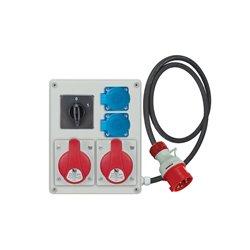 Rozdzielnica R-BOX 240, 2x16A/5p, 2x250V/16A, wyłącznik 0/1, przewód