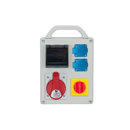 Rozdzielnica R-BOX 240R-4S, 1x32A/5p, 2x250V/16A, puste okno, wyłącznik L/P
