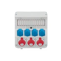 Rozdzielnica R-BOX Lux-320R 13S, 3x16A/5p, 4x250V/16A