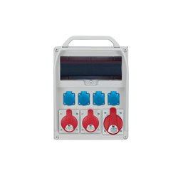 Rozdzielnica R-BOX 380R 13S, 1x32A/5p, 2x16A/5p, 4x250V/16A