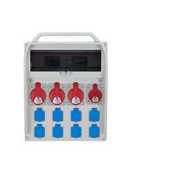 Rozdzielnica R-BOX 460R 17S, 3x32A/5p, 1x16A/5p, 8x250V/16A zabezp.  3xB32/3,B16/3,B16/1