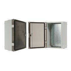 szafka rozdzielcza herm. 260x350x150mm IP65, drzwi przeźroczyste