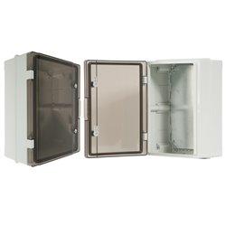szafka rozdzielcza herm.300x400x170mm IP65, drzwi przeźroczyste