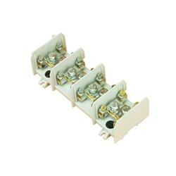 Listwa zaciskowa 4x95/16 termoplastyczna, przystosowana do montażu na szynę TH35, biała, opakowanie 8 szt.