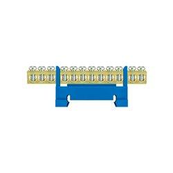 Listwa zaciskowa LZ 12/N 12x16mm2, mocowana na szynę, niebieska, opakowanie 10 szt.