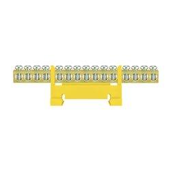 Listwa zaciskowa LZ 15/Ż 15x16mm2, mocowana na szynę TH35, żółta, opakowanie 10 szt.