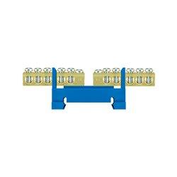 Listwa zaciskowa LZ 10 dzielona 2x5/N, 2x5x16mm2, mocowana na szynę, niebieska, opakowanie 10 szt.