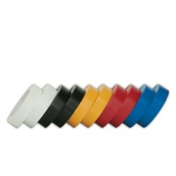 Taśma izolacyjna PCV 19mm/20m, kolorowa (czarna, biała, czerwona, żółta, niebieska - opakowanie 10szt.)