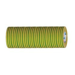 Taśma izolacyjna PCV 15mm/10m, żółto-zielona (opakowanie 10szt.)